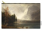Estes Park Colorado Whytes Lake Carry-all Pouch by Albert Bierstadt