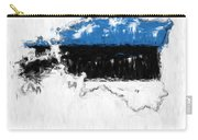 Estonia Painted Flag Map Carry-all Pouch
