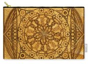 Eternity Mandala Leather Carry-all Pouch
