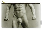Eugen Sandow In Classical Ancient Greco Roman Pose Carry-all Pouch by American Photographer