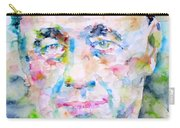 Eugene Ionesco - Watercolor Portrait Carry-all Pouch