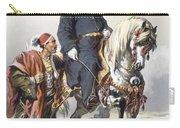 Eunuch Of The Seraglio On A Fine Arab Carry-all Pouch by Amadeo Preziosi