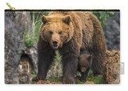 Eurasian Brown Bear 14 Carry-all Pouch