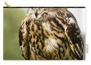 Eurasian Eagle Owl On Log Carry-all Pouch