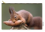 Eurasian Red Squirrel Biting Cone Carry-all Pouch by Ingo Arndt