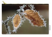 European Beech Leaves With Frost Carry-all Pouch