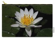 European White Waterlily Carry-all Pouch