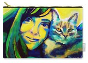 Evangelina And The Cat Carry-all Pouch