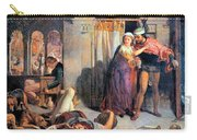 Eve Of Saint Agnes The Flight Of Madelein The Drunkenness Attending The Revelry Carry-all Pouch