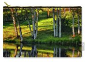 Evening Birches Painted Carry-all Pouch