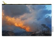 Evening Clouds And Half Dome At Yosemite Carry-all Pouch