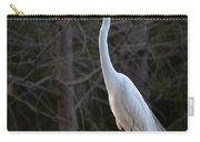 Evening Egret 2 Vertical Carry-all Pouch