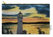 Evening Lighthouse In Stained Glass Carry-all Pouch