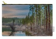 Evening On The Banks Of A Beaver Pond Carry-all Pouch by Omaste Witkowski