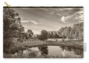 Evening Pond Sepia Carry-all Pouch
