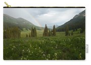 Evening Rainbow In The Rocky Mountains Carry-all Pouch