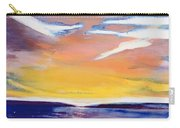 Evening Seascape Carry-all Pouch by Lou Gibbs