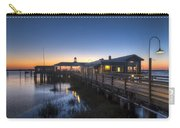 Evening Sky At The Dock Carry-all Pouch by Debra and Dave Vanderlaan