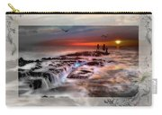 Evening Stroll At The Beach -featured In 'cards For All Occasions'comfortable Art'  'digital Veil Carry-all Pouch