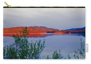 Evening Sun Glow On Calm Twin Lakes Yukon Canada Carry-all Pouch
