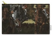 Eventing Horses Over Jump Carry-all Pouch
