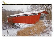 Everett Rd. Covered Bridge In Winter Carry-all Pouch