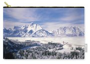 Evergreen Trees On A Snow Covered Carry-all Pouch