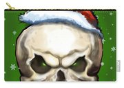 Evil Christmas Skull Carry-all Pouch