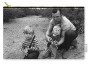 Ex Green Beret Barry Sadler In Target Practice With Son's Thor And Baron Tucson Arizona 1971 Carry-all Pouch