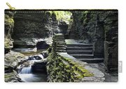 Exiting Watkins Glen Gorge Carry-all Pouch by Frozen in Time Fine Art Photography
