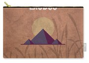 Exodus Books Of The Bible Series Old Testament Minimal Poster Art Number 2 Carry-all Pouch by Design Turnpike