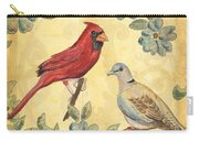 Exotic Bird Floral And Vine 2 Carry-all Pouch by Debbie DeWitt
