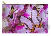 Exotic Butterfly On Hydrangea Carry-all Pouch