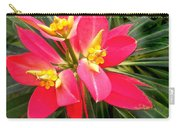 Exotic Red Flower Carry-all Pouch