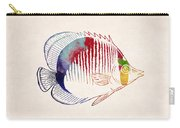 Exotic Tropical Fish Drawing Carry-all Pouch