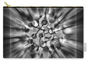 Explosive Abstract Black And White By Kaye Menner Carry-all Pouch