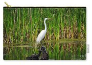 Exquisite Egret Carry-all Pouch
