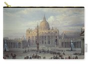 Exterior Of St Peters In Rome From The Piazza Carry-all Pouch