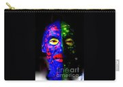 Eye See Colors Mardi Gras Hand Painted Face Carry-all Pouch