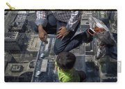 Eyes Down From The 103rd Floor Little Dude With No Fear Carry-all Pouch
