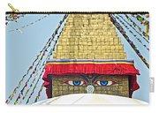 Eyes Of Buudha Boudhanath Stupa In Kathmandu-nepal  Carry-all Pouch