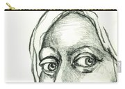 Eyes - The Sketchbook Series Carry-all Pouch by Michelle Calkins