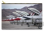 F-16c Thunderbirds On The Ramp Carry-all Pouch by Terry Moore
