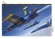 Fa-18 Hornets Of The Blue Angels Fly Carry-all Pouch