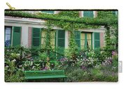 Facade Of Claude Monets House, Giverny Carry-all Pouch