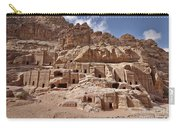 facade street in Nabataean ancient town Petra Carry-all Pouch