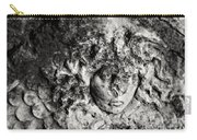Face Carved In Stone Carry-all Pouch