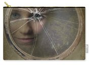 Face In Broken Mirror Carry-all Pouch by Amanda Elwell