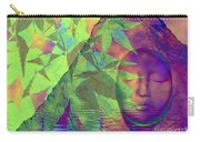Face In The Rock With Maple Leaves Carry-all Pouch