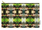 Face In The Stained Glass Tiled Carry-all Pouch